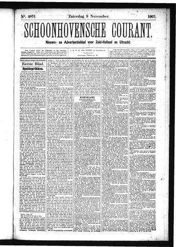 Schoonhovensche Courant 1907-11-09