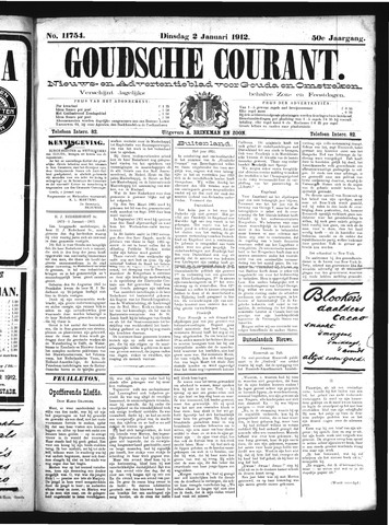 Goudsche Courant 1912-01-02