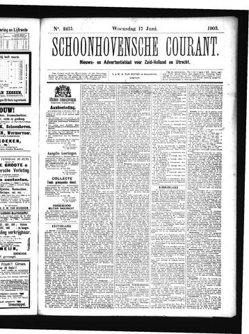 Schoonhovensche Courant 1903-06-17