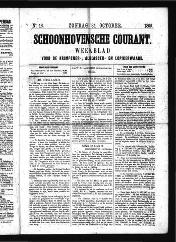 Schoonhovensche Courant 1869-10-31