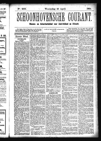 Schoonhovensche Courant 1904-04-20