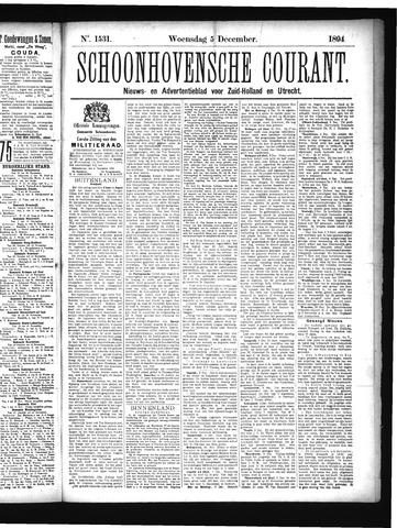 Schoonhovensche Courant 1894-12-05