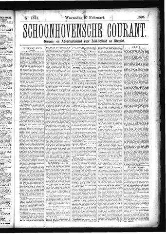 Schoonhovensche Courant 1895-02-27