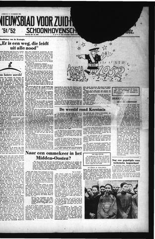 Schoonhovensche Courant 1951-12-29