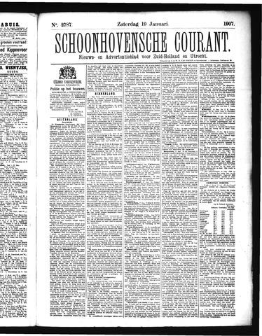 Schoonhovensche Courant 1907-01-19