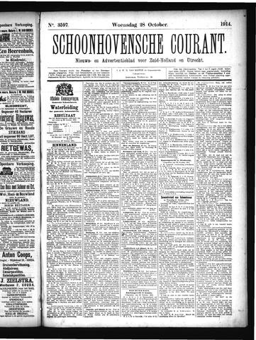 Schoonhovensche Courant 1914-10-28