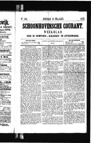 Schoonhovensche Courant 1872-03-10