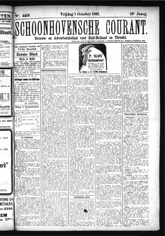 Schoonhovensche Courant 1921-10-07