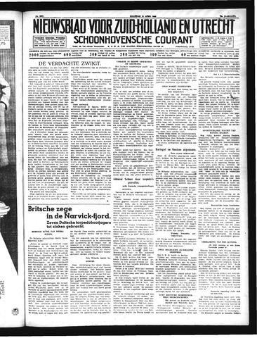 Schoonhovensche Courant 1940-04-15