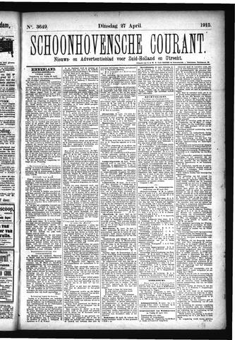 Schoonhovensche Courant 1915-04-27