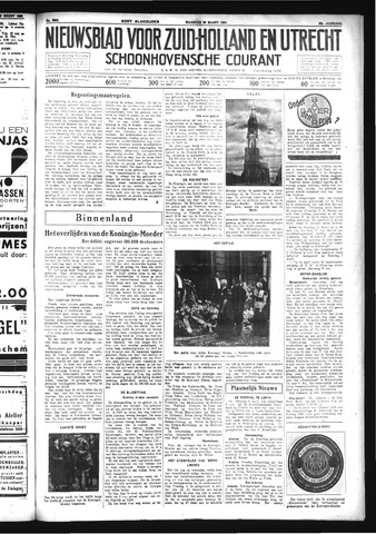 Schoonhovensche Courant 1934-03-26