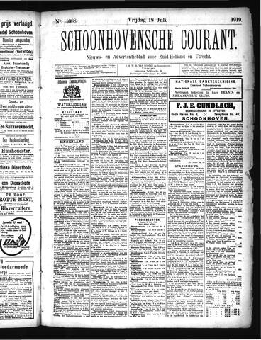Schoonhovensche Courant 1919-07-18