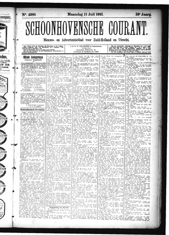 Schoonhovensche Courant 1921-07-11