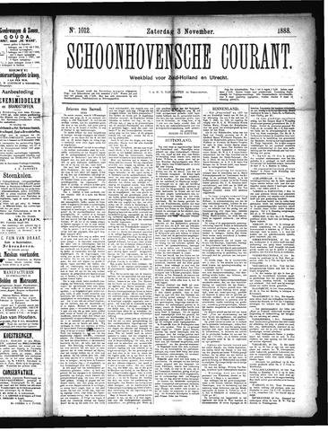 Schoonhovensche Courant 1888-11-03
