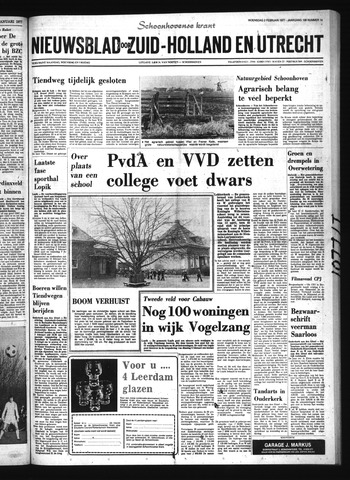 Schoonhovensche Courant 1977-02-02