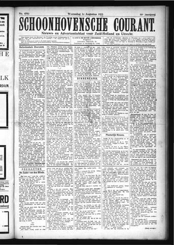 Schoonhovensche Courant 1923-08-22