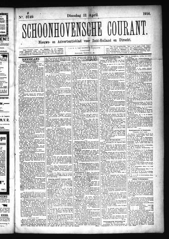 Schoonhovensche Courant 1916-04-11