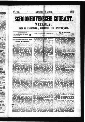 Schoonhovensche Courant 1871-07-09