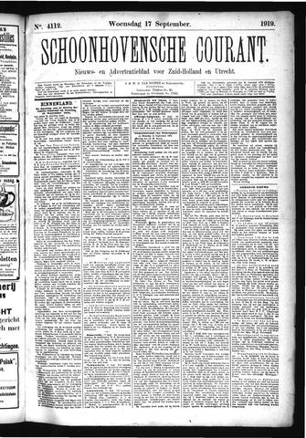 Schoonhovensche Courant 1919-09-17