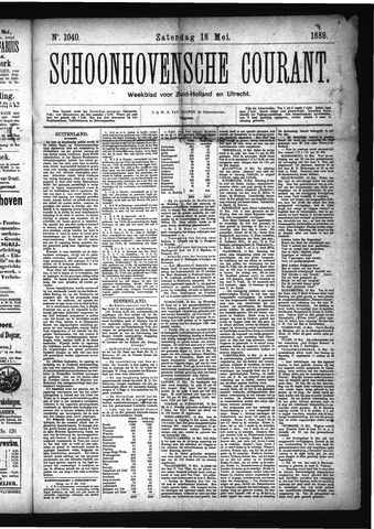 Schoonhovensche Courant 1889-05-18