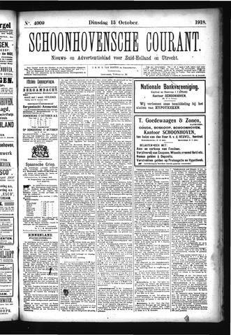 Schoonhovensche Courant 1918-10-15