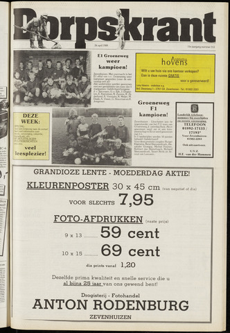 Dorpskrant 1989-04-26