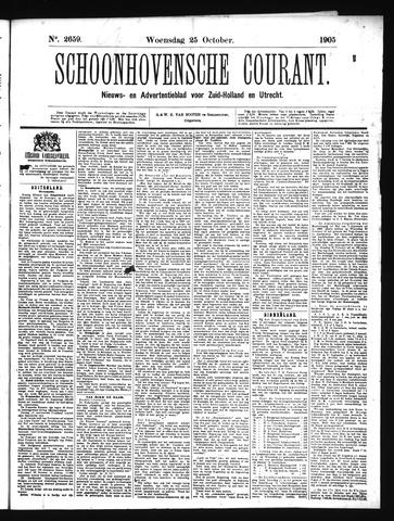 Schoonhovensche Courant 1905-10-25