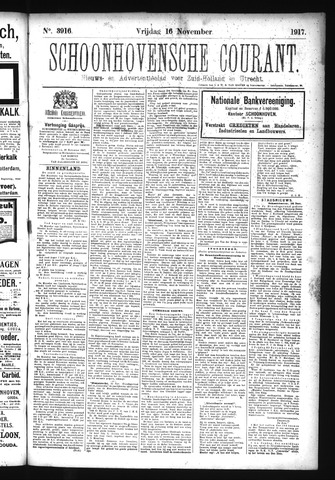 Schoonhovensche Courant 1917-11-16