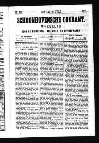 Schoonhovensche Courant 1871-07-30