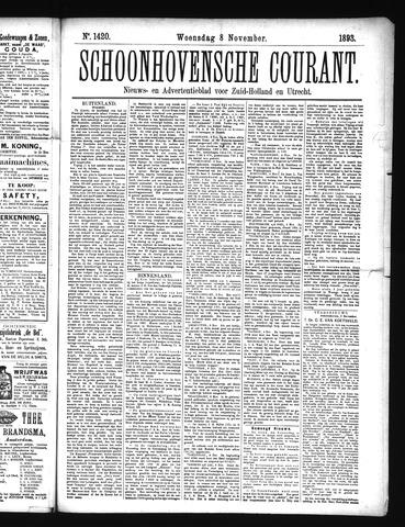 Schoonhovensche Courant 1893-11-08