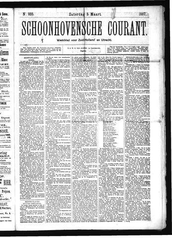 Schoonhovensche Courant 1887-03-05
