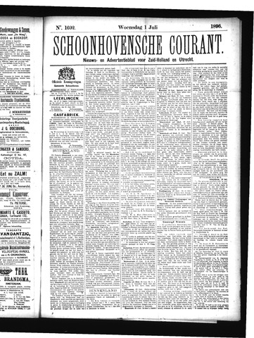 Schoonhovensche Courant 1896-07-01