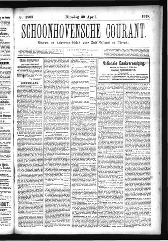 Schoonhovensche Courant 1918-04-30