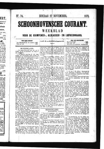 Schoonhovensche Courant 1870-11-27