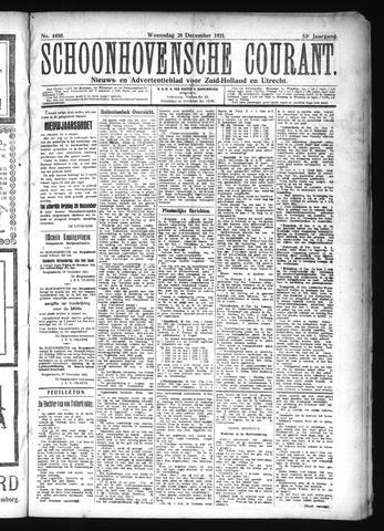 Schoonhovensche Courant 1921-12-28