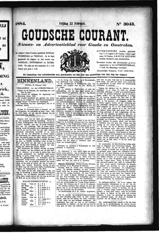 Goudsche Courant 1884-02-22