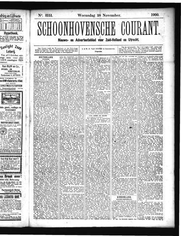 Schoonhovensche Courant 1900-11-28