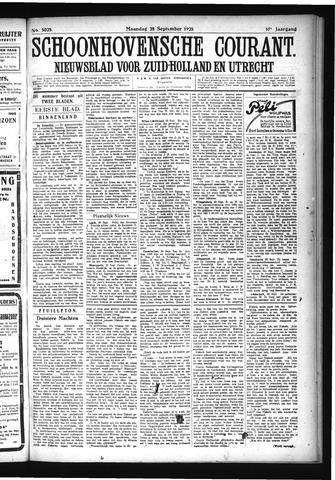 Schoonhovensche Courant 1925-09-28