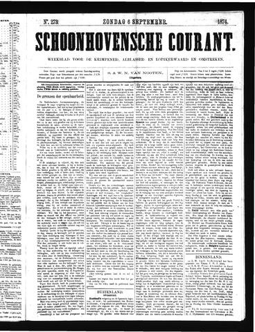 Schoonhovensche Courant 1874-09-06