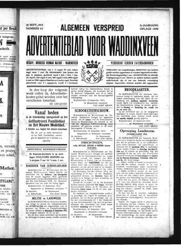 Advertentieblad Waddinxveen 1915-09-25