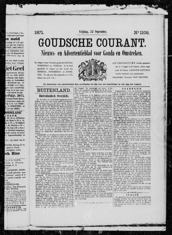 Goudsche Courant 1871-09-22