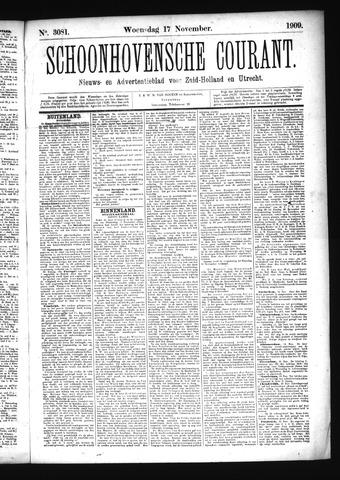 Schoonhovensche Courant 1909-11-17