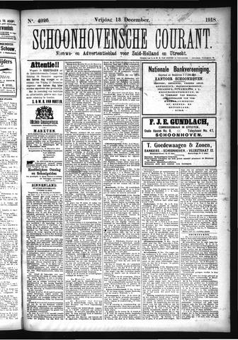 Schoonhovensche Courant 1918-12-13