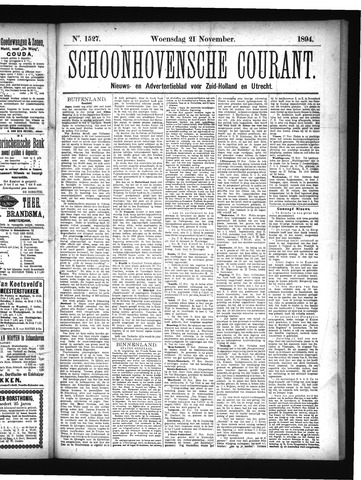 Schoonhovensche Courant 1894-11-21