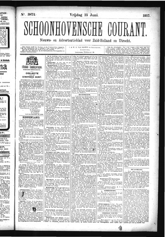 Schoonhovensche Courant 1917-06-15