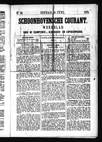 Schoonhovensche Courant 1870-06-26