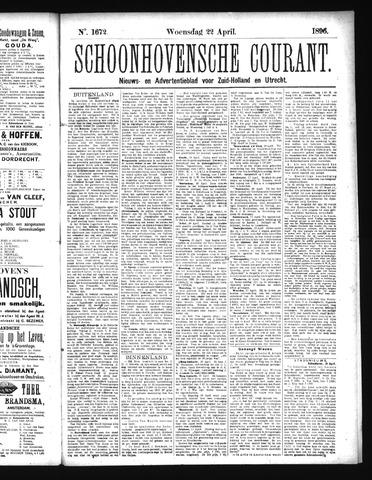 Schoonhovensche Courant 1896-04-22