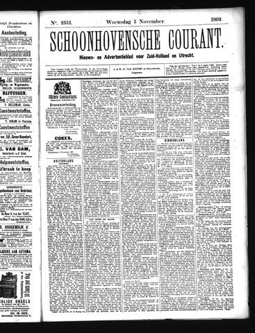 Schoonhovensche Courant 1902-11-05