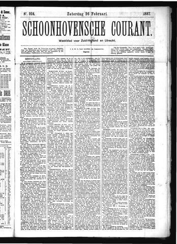 Schoonhovensche Courant 1887-02-26