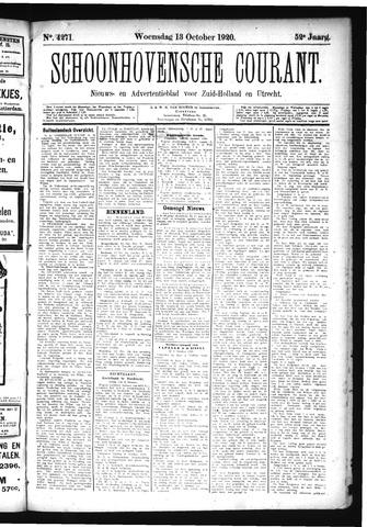 Schoonhovensche Courant 1920-10-13